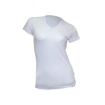 koszulki damskie w serek do sublimacji białe