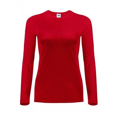Koszulka damska z długim rękawem czerwona