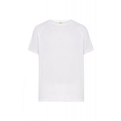 T-shirt dziecięcy poliestrowy biały