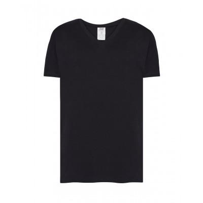 Koszulka męska V-neck czarna
