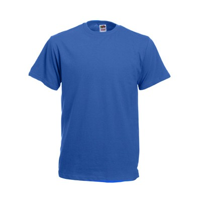 Fruit of the Loom T-shirt męski bez nadruku chabrowy