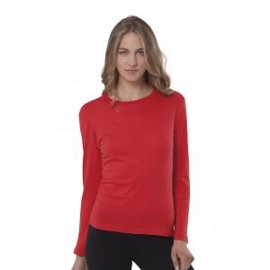 Koszulka damska z długim rękawem bez nadruku JHK